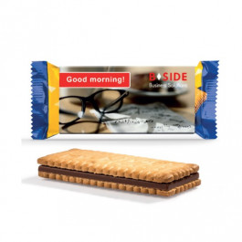 Galletas publicitarias con chocolate tipo sandwich