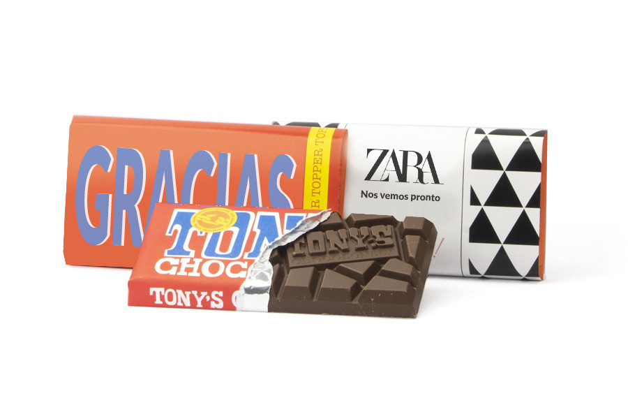Tableta chocolate Tony's Chocolonely personalizada